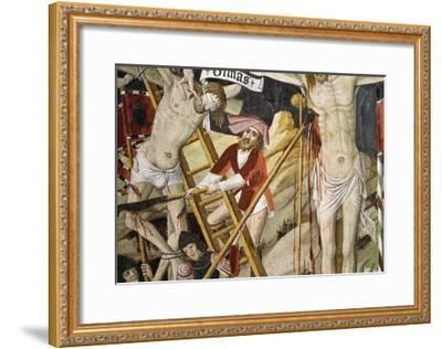 France, La Brigue, Notre-Dame Des Fontaines Chapel, Detail from Death of Jesus, 1491-Giovanni Canavesio-Framed Giclee Print