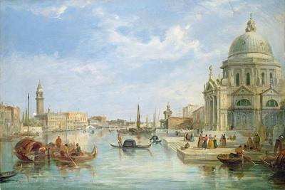 The Mouth of the Grand Canal, Venice, with Santa Maria Della Salute-Egidio Coppola-Framed Giclee Print
