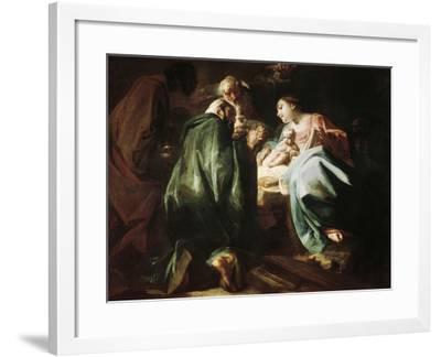 Adoration of the Magi-Federico Faruffini-Framed Giclee Print