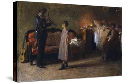 The Busker's Family-Gaetano Gigante-Stretched Canvas Print