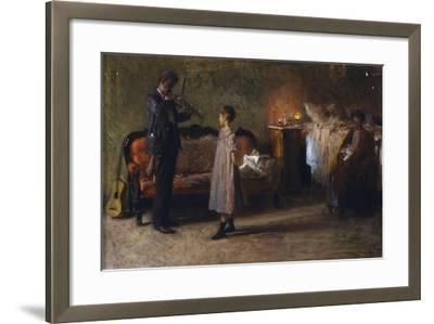 The Busker's Family-Gaetano Gigante-Framed Giclee Print