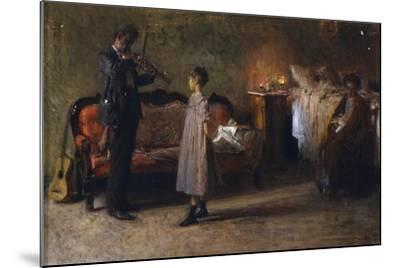The Busker's Family-Gaetano Gigante-Mounted Giclee Print