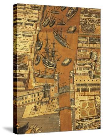 Perspective Map of Venice Dockyard, 1798-Giandomenico Cignaroli-Stretched Canvas Print
