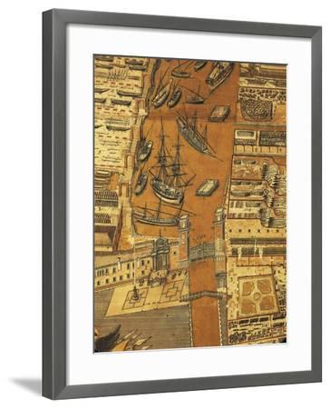 Perspective Map of Venice Dockyard, 1798-Giandomenico Cignaroli-Framed Giclee Print