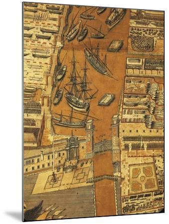 Perspective Map of Venice Dockyard, 1798-Giandomenico Cignaroli-Mounted Giclee Print