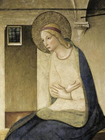 Detail from the Annunciation Showing Figure of Mary-Giovanni Da Fiesole-Framed Giclee Print