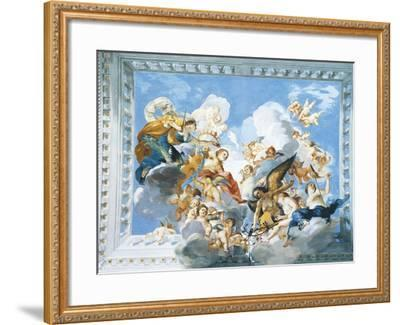 Allegories of the Marriage of Ferdinand II and Vittoria Colonna, 1635-Giovanni De' Fondulis-Framed Giclee Print