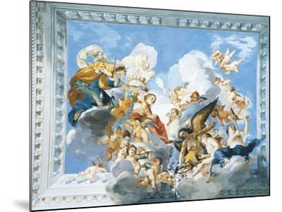 Allegories of the Marriage of Ferdinand II and Vittoria Colonna, 1635-Giovanni De' Fondulis-Mounted Giclee Print