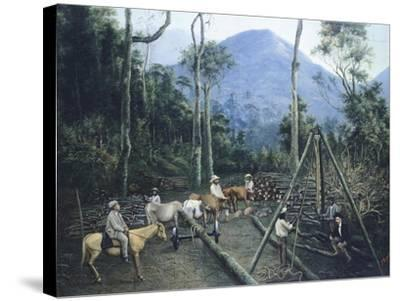 Construction of Chiguacan Railway, 1907-Guercino-Stretched Canvas Print