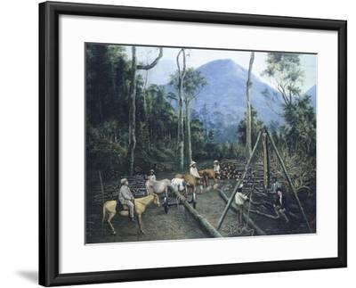 Construction of Chiguacan Railway, 1907-Guercino-Framed Giclee Print