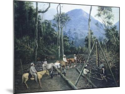 Construction of Chiguacan Railway, 1907-Guercino-Mounted Giclee Print