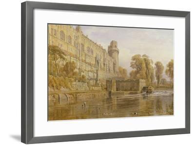 Warwick Castle from the Avon-George Cruikshank-Framed Giclee Print