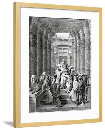 Joseph Recognized by His Brothers-Gustave Le Gray-Framed Giclee Print