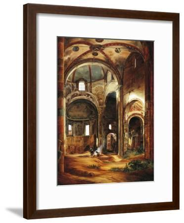 Interior View of St Peter's Basilica in Ciel D'Oro, Pavia, 1854-Suzanne Valadon-Framed Giclee Print