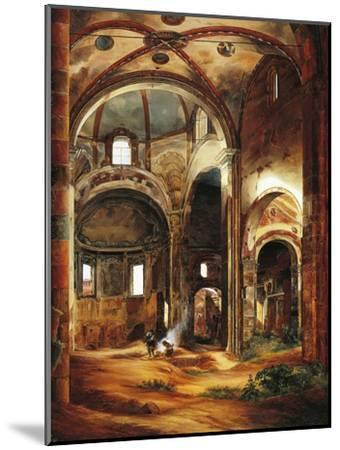 Interior View of St Peter's Basilica in Ciel D'Oro, Pavia, 1854-Suzanne Valadon-Mounted Giclee Print
