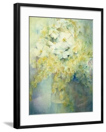 Anemone Japonica - White Queen and Molu-Karen Armitage-Framed Giclee Print