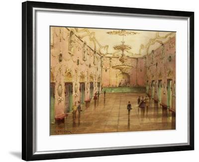The Sperl Saal, Dancehall Where Johann Strauss' Waltzes Were Played-Kerpel Lipot-Framed Giclee Print
