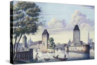 The Bridges of Strasbourg, 1830-L. Urgelles-Stretched Canvas Print