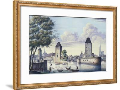 The Bridges of Strasbourg, 1830-L. Urgelles-Framed Giclee Print