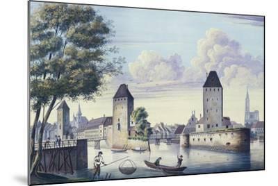 The Bridges of Strasbourg, 1830-L. Urgelles-Mounted Giclee Print