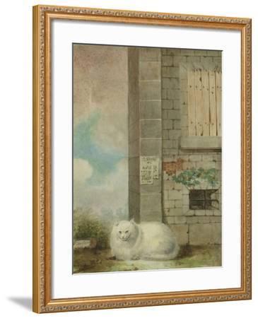 White Persian Cat-Laslett John Pott-Framed Giclee Print