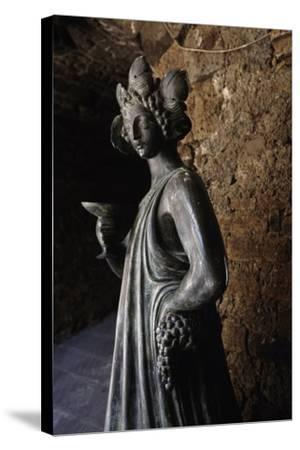 Bronze Statue of Bacchus, Capalbio, Tuscany, Italy-Luigi Masotti-Stretched Canvas Print