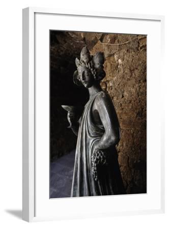 Bronze Statue of Bacchus, Capalbio, Tuscany, Italy-Luigi Masotti-Framed Giclee Print