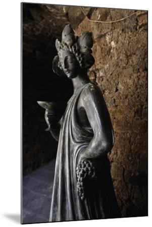 Bronze Statue of Bacchus, Capalbio, Tuscany, Italy-Luigi Masotti-Mounted Giclee Print