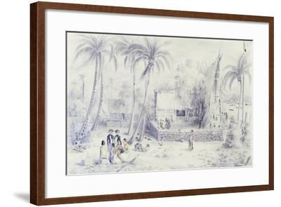 Polynesia, Scene of Everyday Life in Marquesas Islands-Michael Chase-Framed Giclee Print