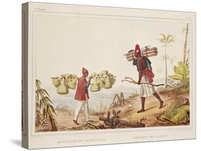 Brazil, Native Porters, from Picturesque and Historical Voyage to Brazil, 1835-Jean Baptiste Edouard Detaille-Stretched Canvas Print