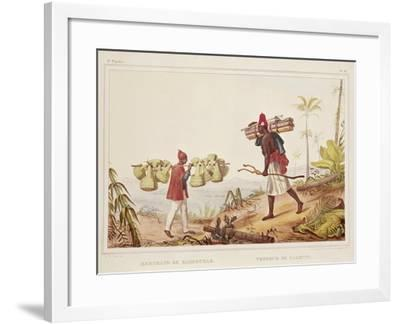 Brazil, Native Porters, from Picturesque and Historical Voyage to Brazil, 1835-Jean Baptiste Edouard Detaille-Framed Giclee Print