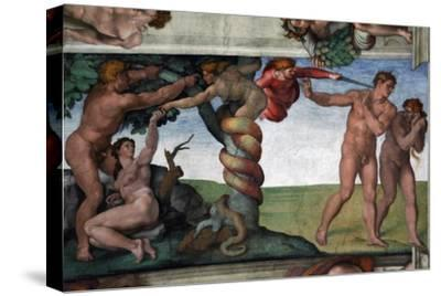 The Original Sin and the Expulsion from Paradise--Stretched Canvas Print