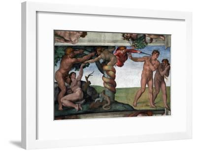 The Original Sin and the Expulsion from Paradise--Framed Giclee Print