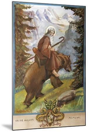 St Remedies on the Back of the Bear-Luigi Mussini-Mounted Giclee Print