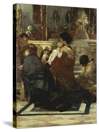 In the Church, 1881-Luigi Nono-Stretched Canvas Print