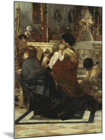 In the Church, 1881-Luigi Nono-Mounted Giclee Print