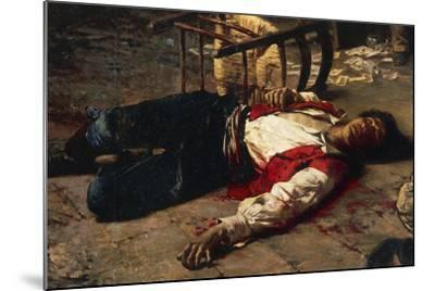 Wounded on the Ground, 1889-Michele Cammarano-Mounted Giclee Print