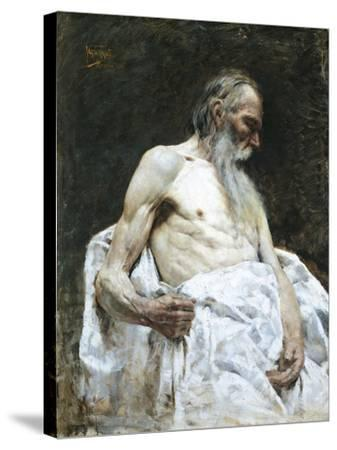 Study of Old Man, 1885-J Lovopacky-Stretched Canvas Print