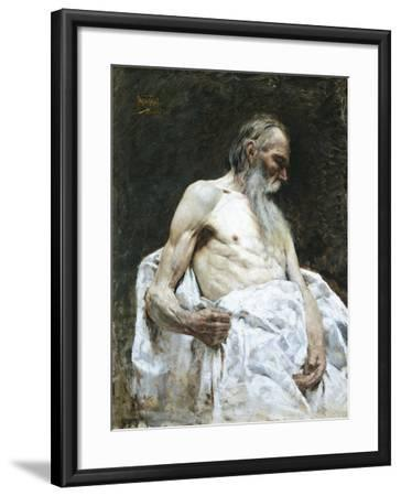 Study of Old Man, 1885-J Lovopacky-Framed Giclee Print