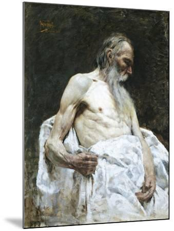 Study of Old Man, 1885-J Lovopacky-Mounted Giclee Print