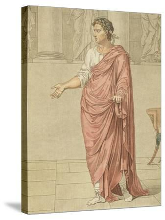 Titus, Costume for Berenice by Jean-Baptiste Racine, Circa 1805-Philippe De Lasalle-Stretched Canvas Print