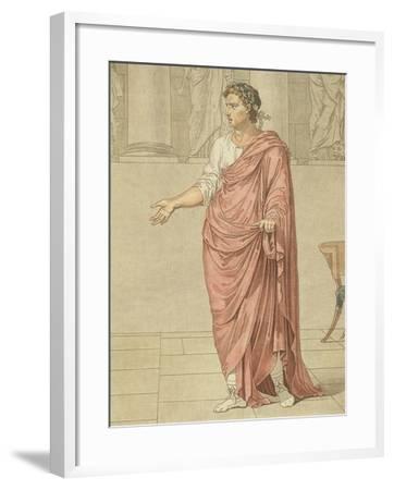 Titus, Costume for Berenice by Jean-Baptiste Racine, Circa 1805-Philippe De Lasalle-Framed Giclee Print