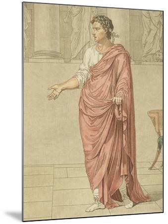 Titus, Costume for Berenice by Jean-Baptiste Racine, Circa 1805-Philippe De Lasalle-Mounted Giclee Print