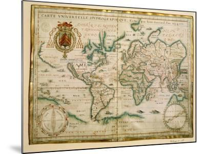 Hydrographic General Map, 1634-Jean Restout II-Mounted Giclee Print
