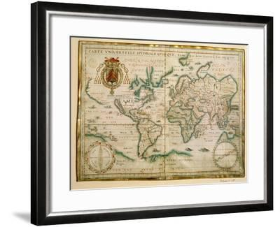 Hydrographic General Map, 1634-Jean Restout II-Framed Giclee Print