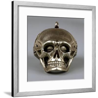 Skull-Shaped Clock, Silver and Gilt Brass, Geneva, Switzerland-Jean Sauve-Framed Giclee Print
