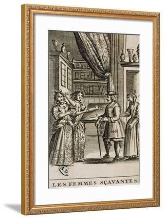 Title Page of the Learned Women by Moliere-Jean Valade-Framed Giclee Print