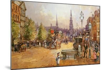 Cab Stand in the Strand-John White-Mounted Giclee Print