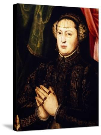 Portrait of Catherine of Habsburg-Lorenz Janscha-Stretched Canvas Print