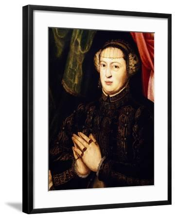 Portrait of Catherine of Habsburg-Lorenz Janscha-Framed Giclee Print